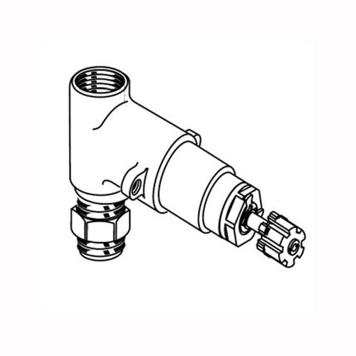 American Standard R701 1/2 Inch Rough On/Off Volume Control Valves, 1/2-Inch Inlet/Outlet (Handle Not Included)