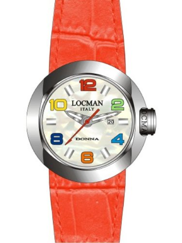 Locman - 042100MWNCO1PSR-B-WS - Montre Femme - Quartz Analogique - Bracelet cuir Rouge