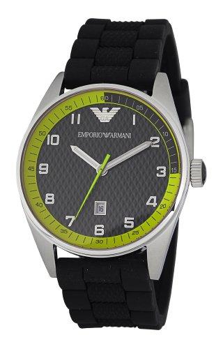 Emporio Armani Sports Collection AR5877 - Reloj analógico de cuarzo para hombre, correa de silicona color negro