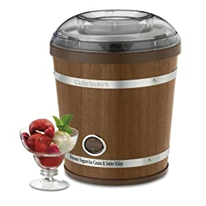 cuisinart wooden ice cream maker