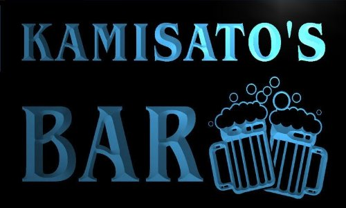 w148727-b KAMISATO'S Name Home Bar Pub Beer Mugs Cheers Neon Light Sign
