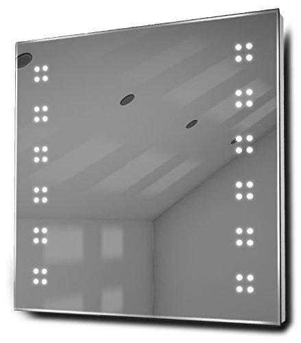 Alpha Ultra-Slim Led Bathroom Illuminated Mirror With Demister Pad & Sensor K37