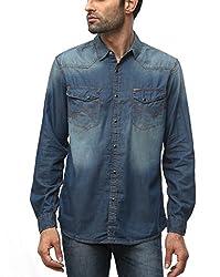 Wrangler Men Cotton DIRT-BIKER Casual Shirt (Large)