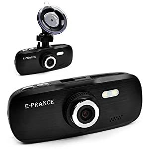 "E-PRANCE® New G1W Novatek 2.7"" Car Dashcamera Driving Recorder + 1920*1080P 30FPS + G-sensor + Car License Plate + MOV + 140 Degree Wide Angle Lens + Night Vision + H.264 + 32GB Memory Card Color Black"