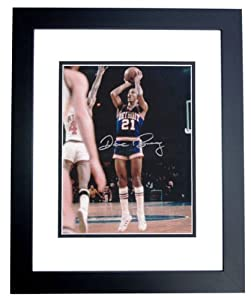Dave Bing Autographed Hand Signed 8x10 Detroit Pistons Photo - BLACK CUSTOM FRAME by Real Deal Memorabilia