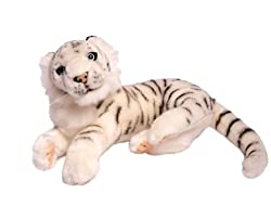 Realistic White Tiger 9""