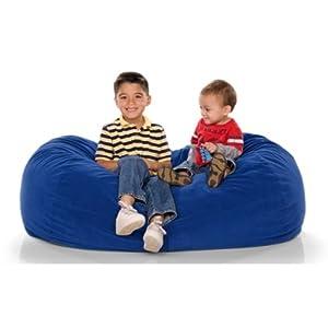 Jaxx Kids Jr Lounger Kids Foam Bean Bag Color Blueberry by Jaxx