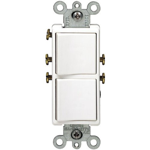 Single Pole Duplex Switch White Leviton