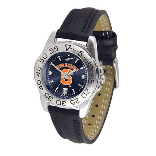 Suntime Syracuse Orangemen Ncaa Anochrome Sport Ladies Watch Leather Band