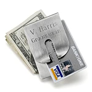 Personalized Harrison Clever Money Clip Wallet