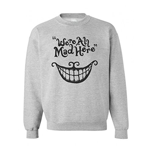 _Cheshire Cat We're All Mad Here Small Unisex Sweater