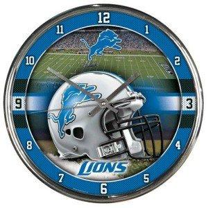 NFL Detroit Lions Chrome Clock