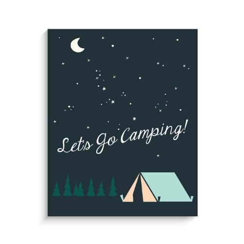 "Lucy Darling Lets Go Camping Print Wall Decor, 8"" x 10"""
