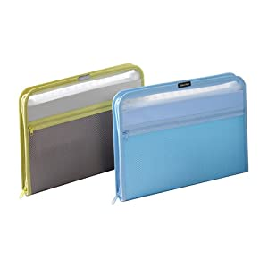 Globe-Weis 13-Pocket Fabric Expanding Zip File, Letter Size, Color May Vary, Single File (84087)