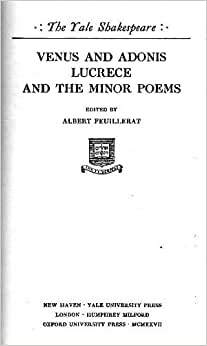 an analysis of the poem venus and adonis by william shakespeare 26072015 venus and adonis (shakespeare poem) venus and adonis is a narrative poem by william shakespeare published in 1593 it is probably shakespeare.