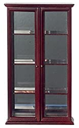 Dollhouse Miniature Tuscan Curio Cabinet Mahogany P3005