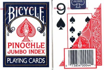 Large Print Pinochle Playing Cards - 2 Deck Gift Set by MAGNIFYING AIDS