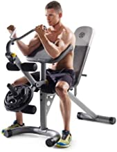 Gold39s Gym XRS 20 Workout Bench Olympic Multiple Bench Incline Positions for Legs and Arms