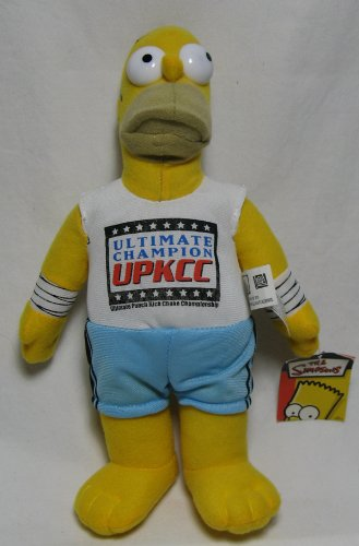 Simpsons - Homer Simpson Ultimate Champion UPKCC 12in Plush Doll - 1