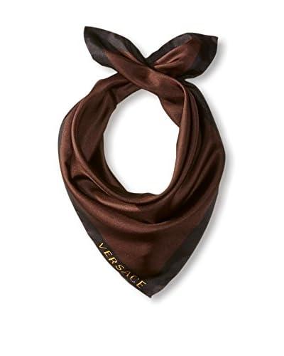 Versace Women's Plain Silk Scarf, Brown/Black