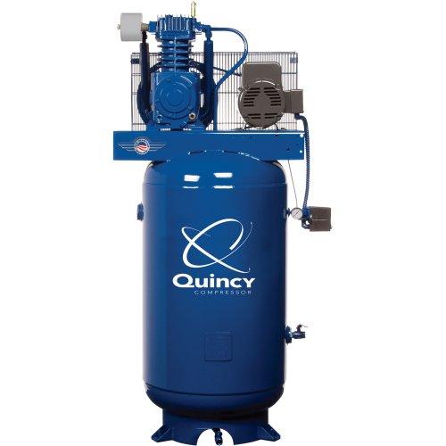 - Quincy QT-5 Splash Lubricated Reciprocating Air Compressor - 5 HP, 230 Volt, 1 Phase, 80-Gallon Vertical, Model# 251CP80VCB