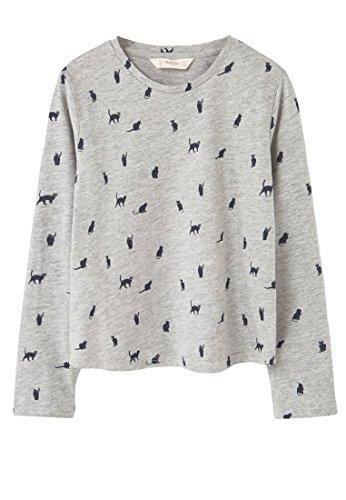 mango-kids-meliertes-t-shirts-print-t-shirt-size9-10-jahre-colorhellgrau-meliert