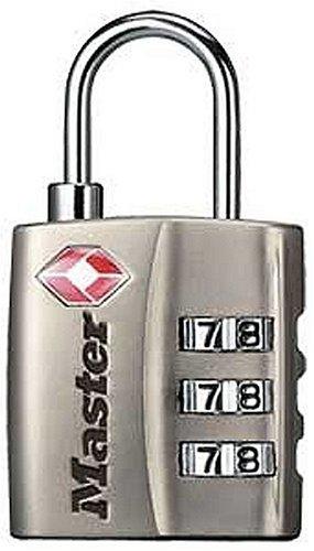 Master Lock 4680DNKL TSA-Accepted Set-Your-Own Combination Lock, Nickel