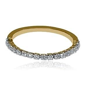 flex wedding band anniversary ring 1 4cttw 10k