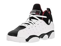 Nike Jordan Kids Jordan Jumpman Team II Bg Whire/Black/Varsity Red Basketball Shoe 4.5 Kids US
