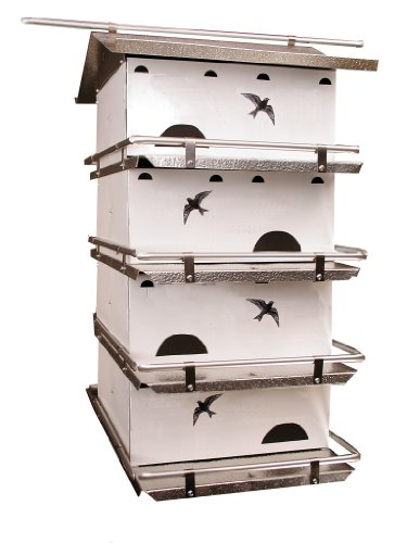 Birds Choice Waters Edge 4-Floor-8 Suites Purple Martin House with Starling Resistent Holes (Telescoping Martin House Pole compare prices)