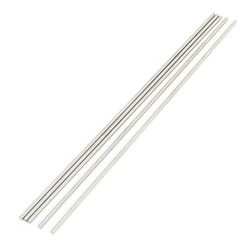 uxcell® Remote Control RC Model 250mm x 3mm Stainless Steel Round Bar 5Pcs