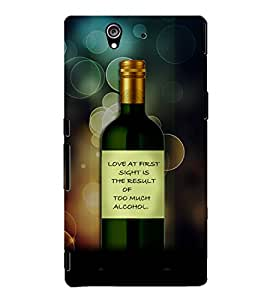 PrintVisa Quotes & Messages Funny Romantic Love 3D Hard Polycarbonate Designer Back Case Cover for Sony Xperia Z