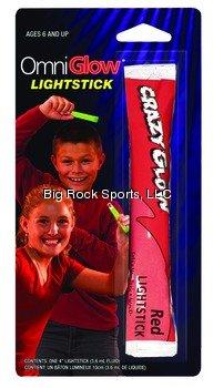 Omniglow 9-90717 Crazy Glow Lighstick, Red - 1