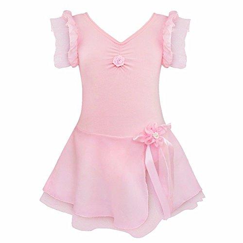 iEFiEL-Tutu Danza Danza Body costume, Bambino, Pink, 3-4 anni