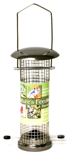 Cheap Nature's Feeding Time Deluxe Nut Feeder, Small, Gun Metal (B004V4BC44)