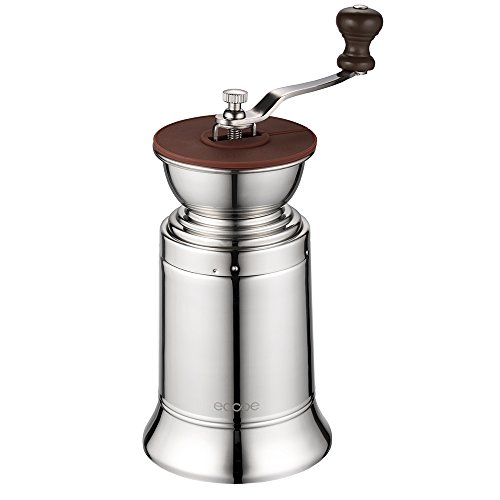 Ecooe Manual Coffee Grinder Stainless Steel Manual Grinder Ceramic Burr Coffee Mill for Consistent Fine Grind.