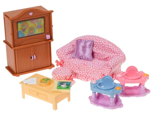 Deluxe Family Room Set for the Loving Family Dollhouse