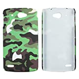 Heartly Army Style Retro Color Armor Hybrid Hard Bumper Back Case Cover For Lenovo S920 Dual Sim - Army Green
