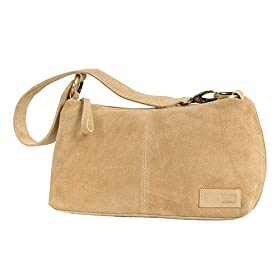 Olive N Figs Suede Camel Color Handbag