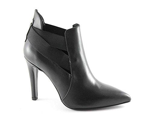 CAFè NOIR MC146 nero scarpe donna montante tronchetto tacco punta elastici 37