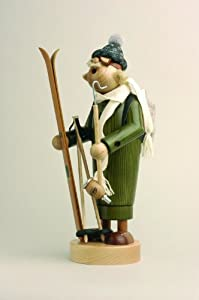 KWO Skier German Incense Smoker by KWO