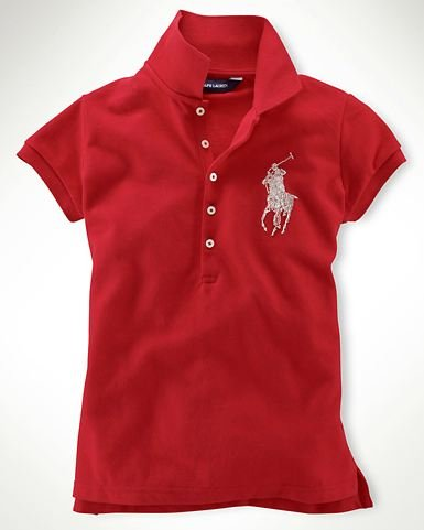 Ralph Lauren Sparkling Beaded Big Pony Polo Girls Shirt Park Avenue Red S 7