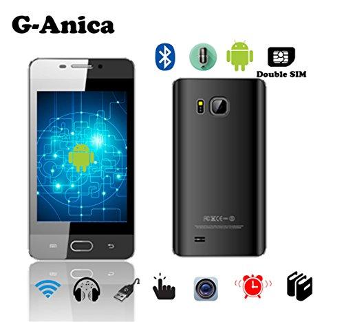 G-Anica 3.5 Zoll Smartphone (Unlocked Ohne Vertrag) Drop PC Dual Core Dual SIM Phablet Android 4.4.2 2GB RAM 4GB ROM Bluetooth WIFI Schwarz