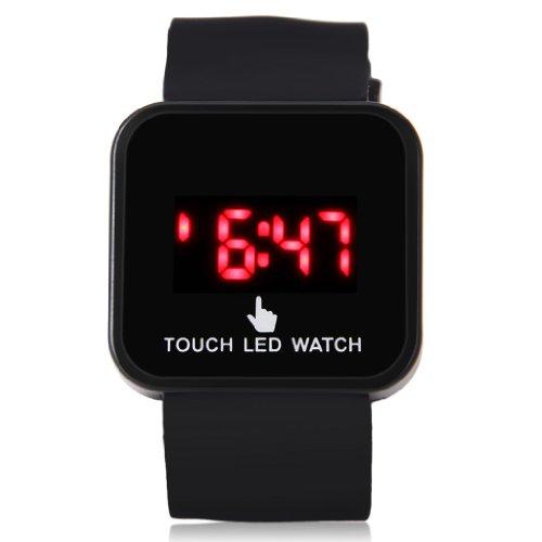 Sport Black Gel Silicone Date Touch Screen Digital Led Men'S Women'S Teen Unisex Watch Clock