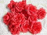 結婚式 2次会 パーティー お祝い 手作りに バラの 造花 8センチ(花のみ)50コ レッド