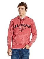 Lee Cooper Sudadera con Capucha Tadley (Rojo)