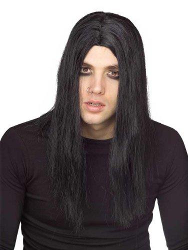 Rubie's Costume Evildoer Wig, Black, One Size - 1