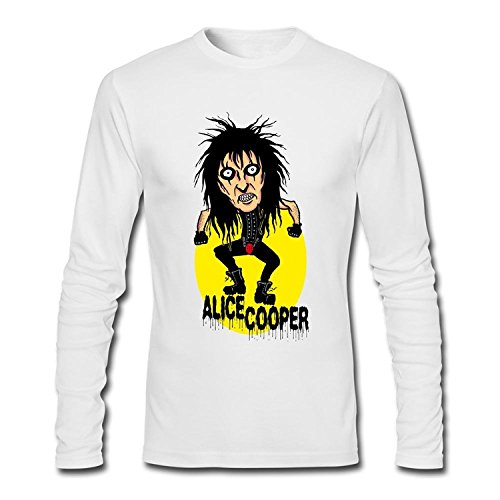 wtfcute Men's Cartoon Alice Cooper Long Sleeve T-Shirt?XXX-Large?