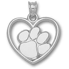Clemson University Paw Heart - 14K Gold by Logo Art