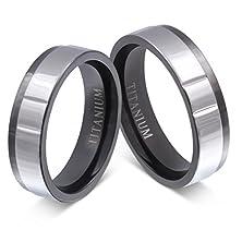 buy Jewelery Codex- Free Engraving Wedding Ring Set, Him And Her Rings Titanium